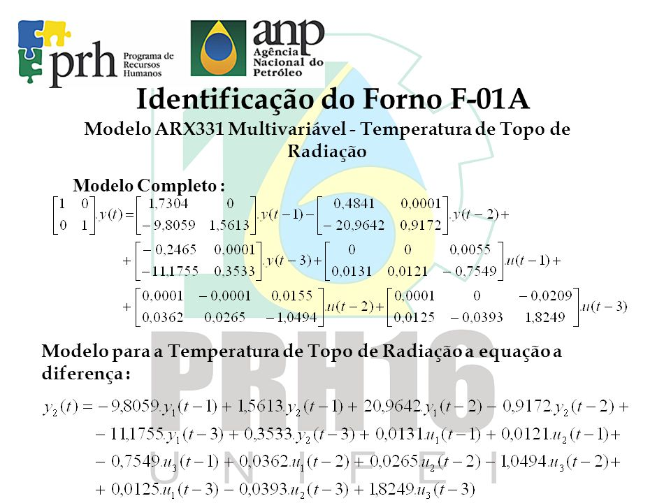 Identificação do Forno F-01A