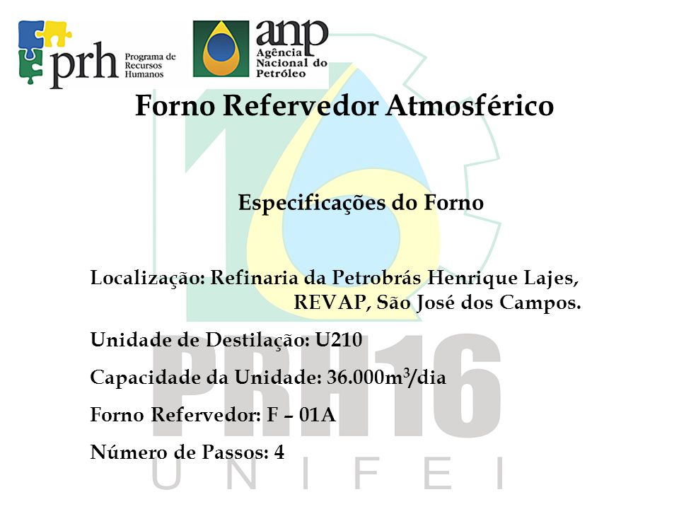 Forno Refervedor Atmosférico Especificações do Forno
