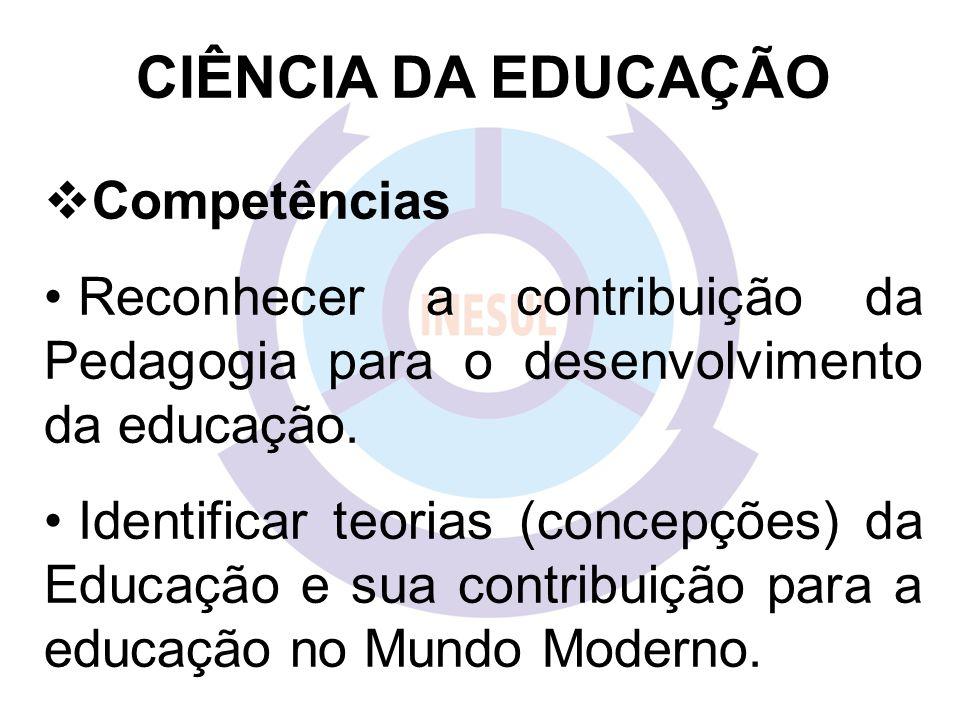 CIÊNCIA DA EDUCAÇÃO Competências