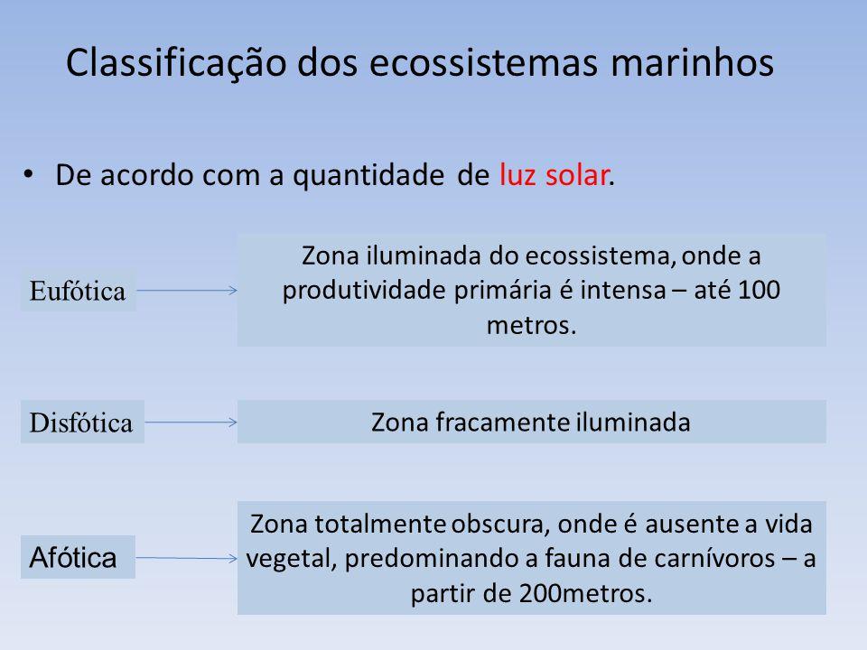 Classificação dos ecossistemas marinhos