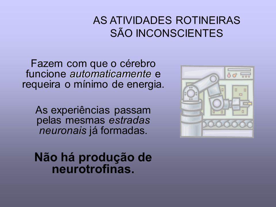 Não há produção de neurotrofinas.