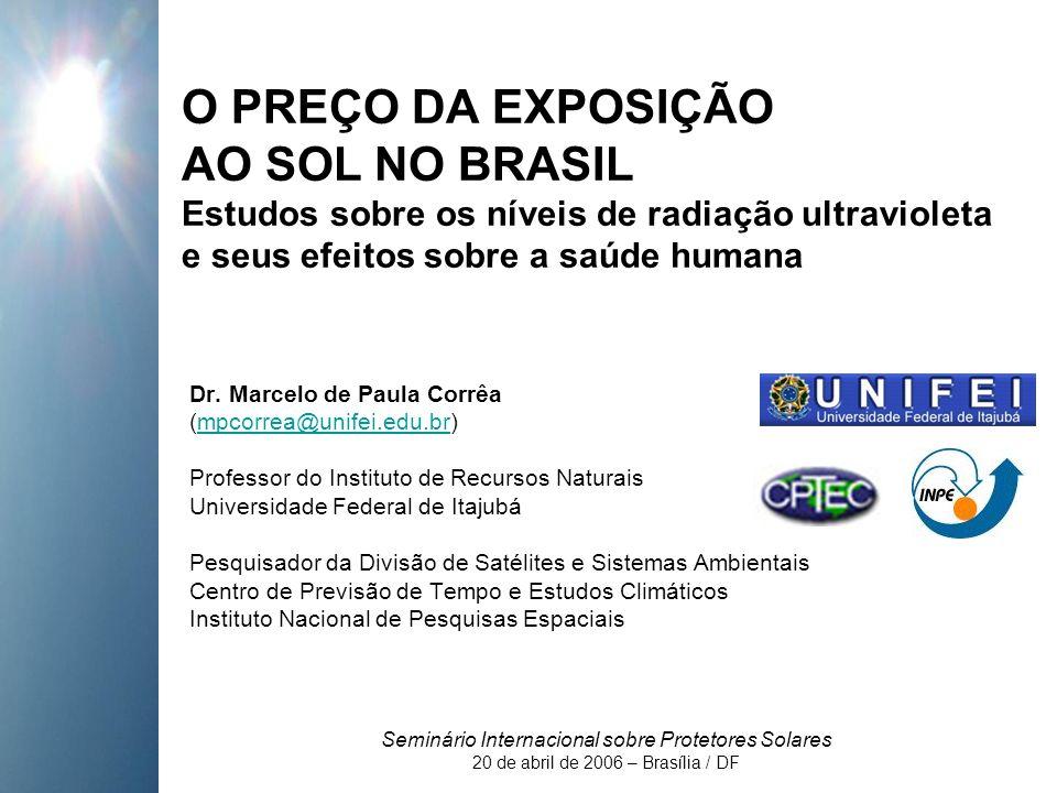 O PREÇO DA EXPOSIÇÃO AO SOL NO BRASIL Estudos sobre os níveis de radiação ultravioleta e seus efeitos sobre a saúde humana