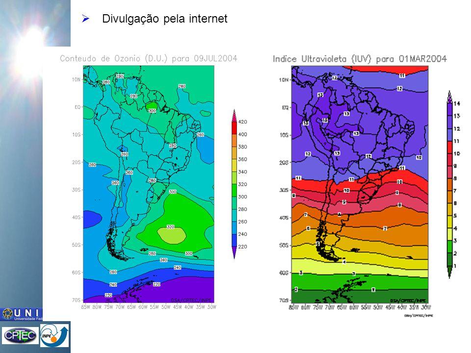 Previsão do conteúdo de ozônio Previsões para 5 dias