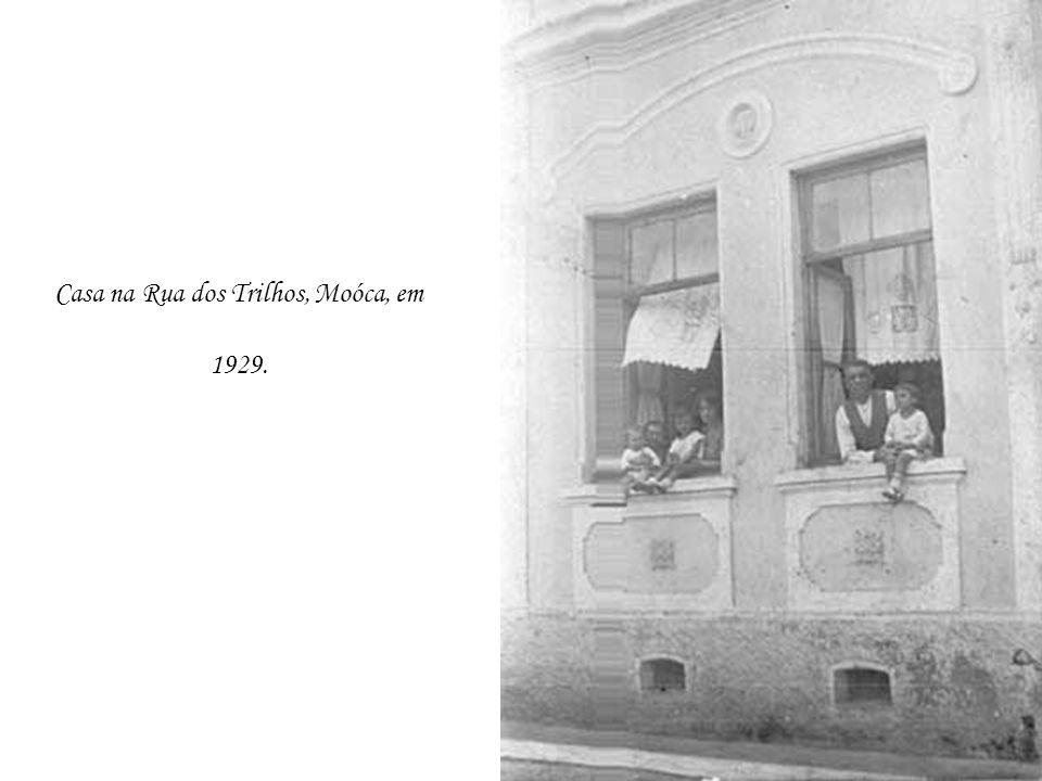 Casa na Rua dos Trilhos, Moóca, em 1929.