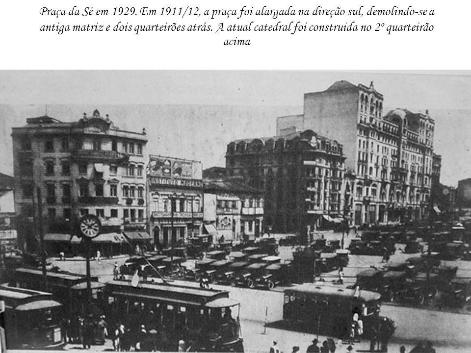 Praça da Sé em 1929.
