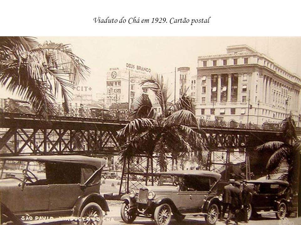 Viaduto do Chá em 1929. Cartão postal