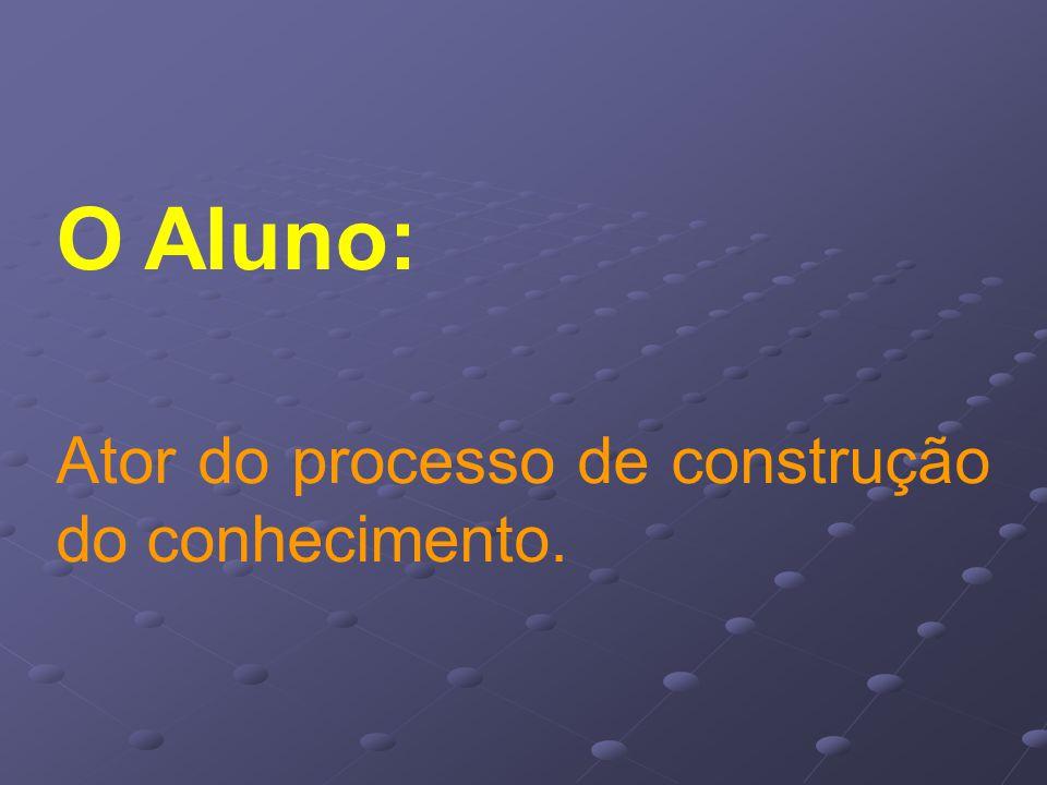 O Aluno: Ator do processo de construção do conhecimento.