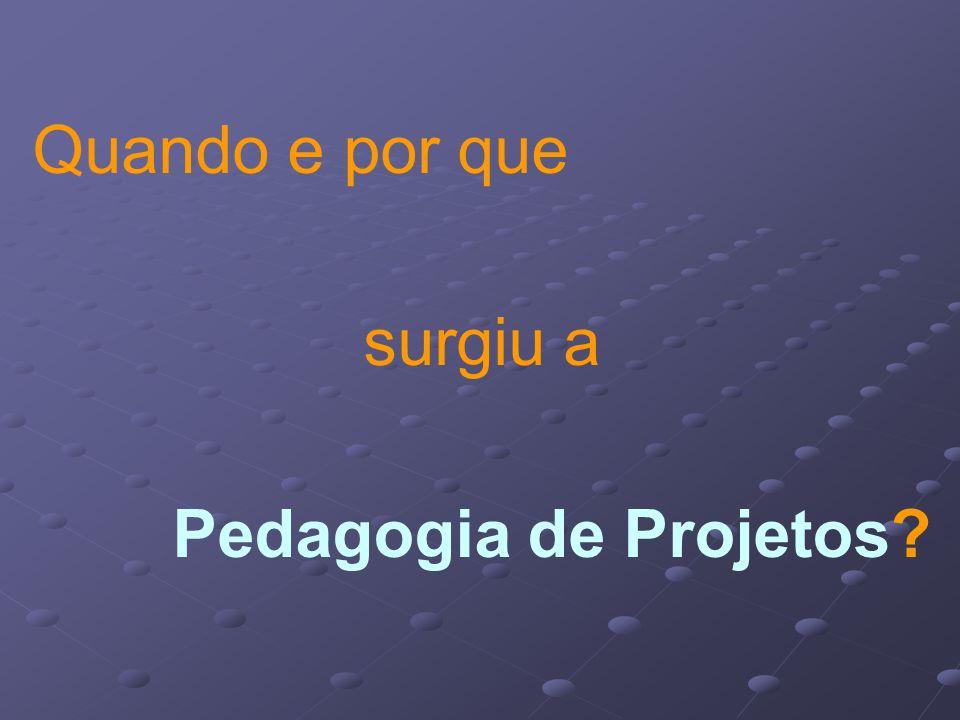 Quando e por que surgiu a Pedagogia de Projetos