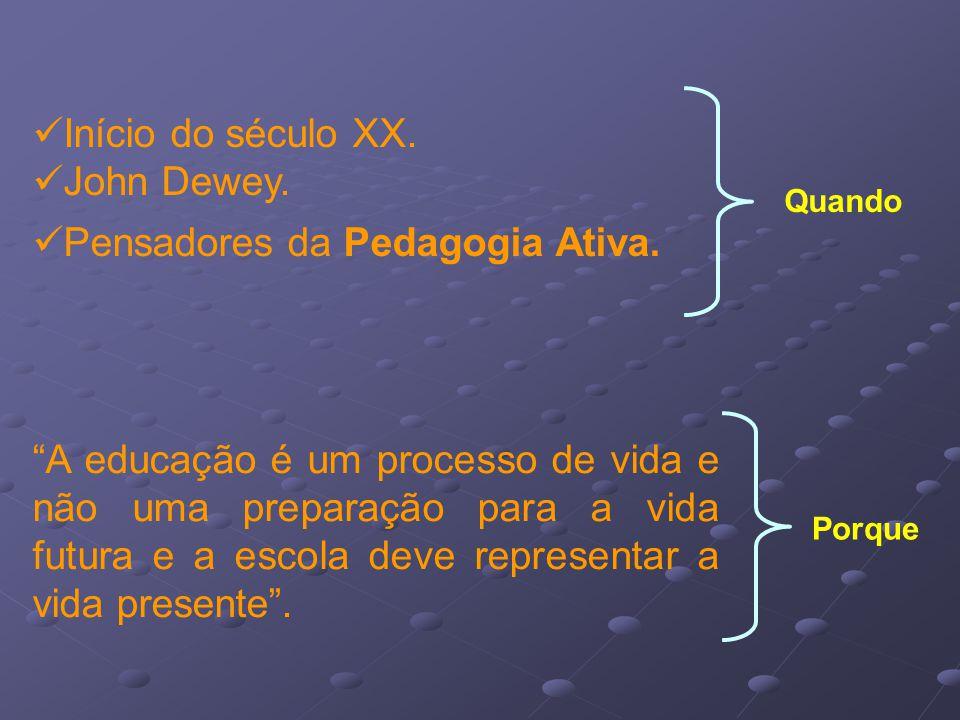 Pensadores da Pedagogia Ativa.