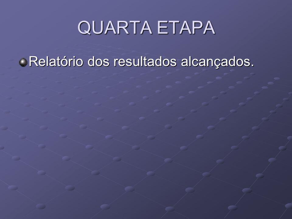 QUARTA ETAPA Relatório dos resultados alcançados.