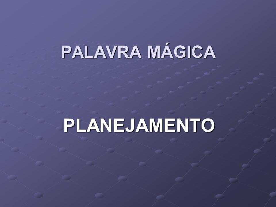 PALAVRA MÁGICA PLANEJAMENTO