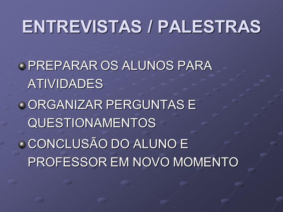 ENTREVISTAS / PALESTRAS
