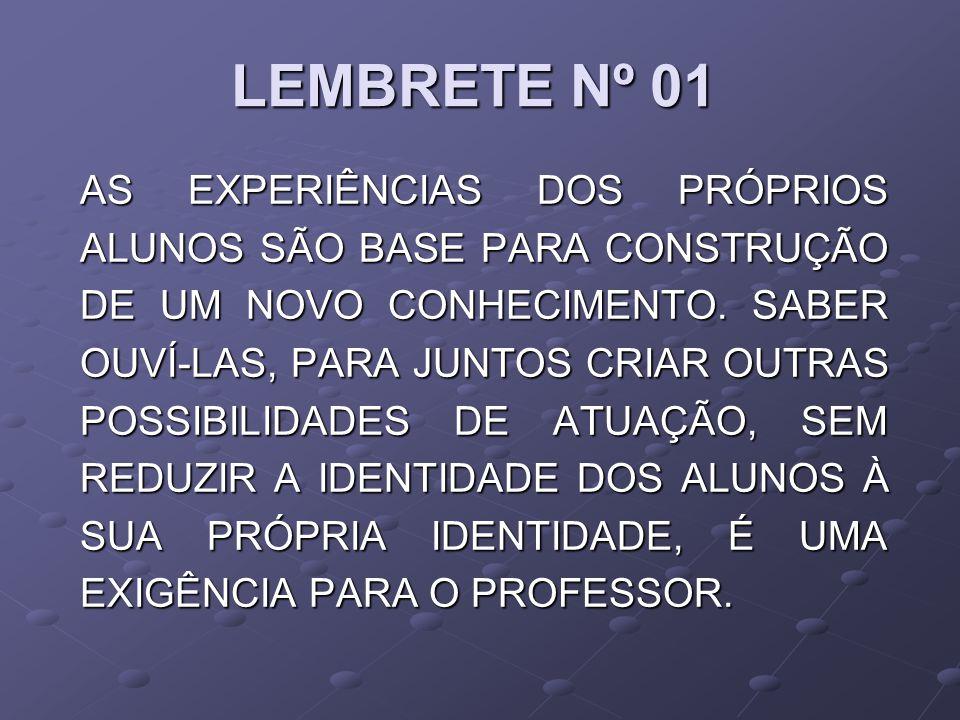 LEMBRETE Nº 01
