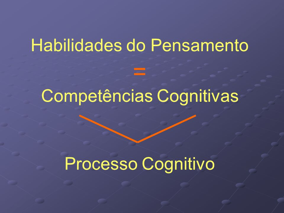 Habilidades do Pensamento