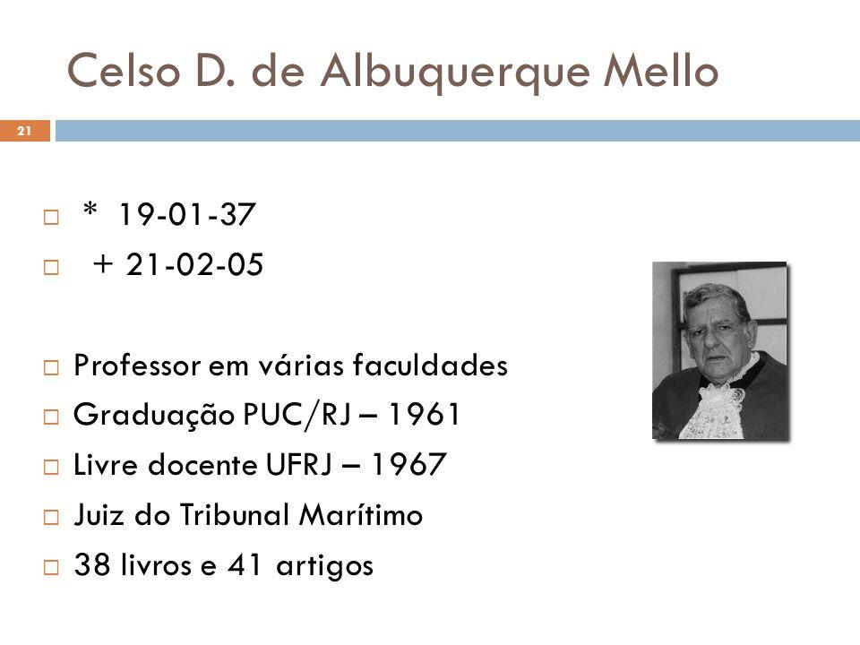 Celso D. de Albuquerque Mello