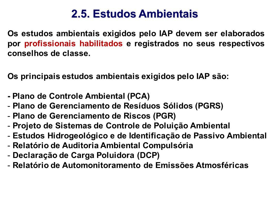 2.5. Estudos Ambientais