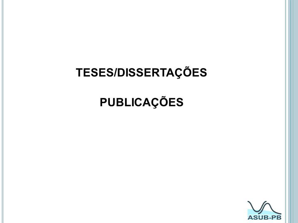 TESES/DISSERTAÇÕES PUBLICAÇÕES