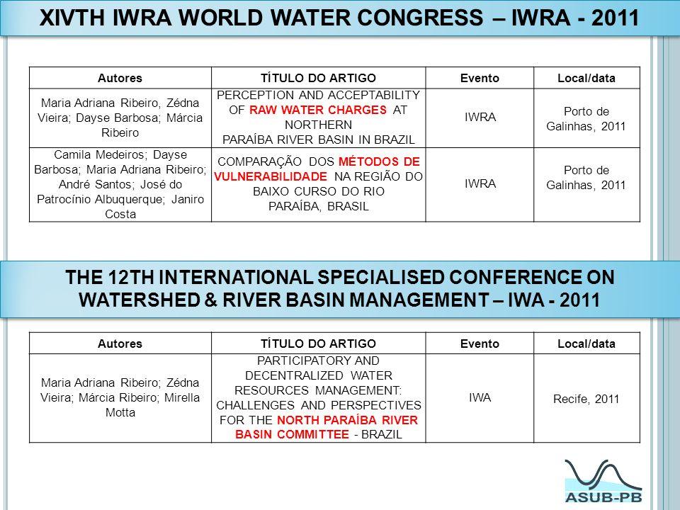 XIVTH IWRA WORLD WATER CONGRESS – IWRA - 2011