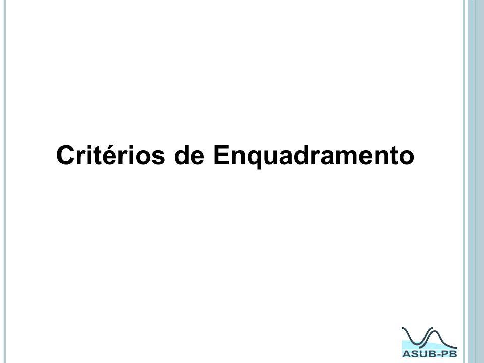Critérios de Enquadramento