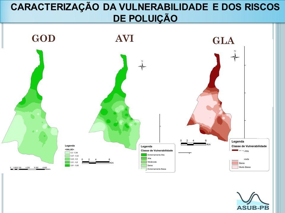 CARACTERIZAÇÃO DA VULNERABILIDADE E DOS RISCOS DE POLUIÇÃO