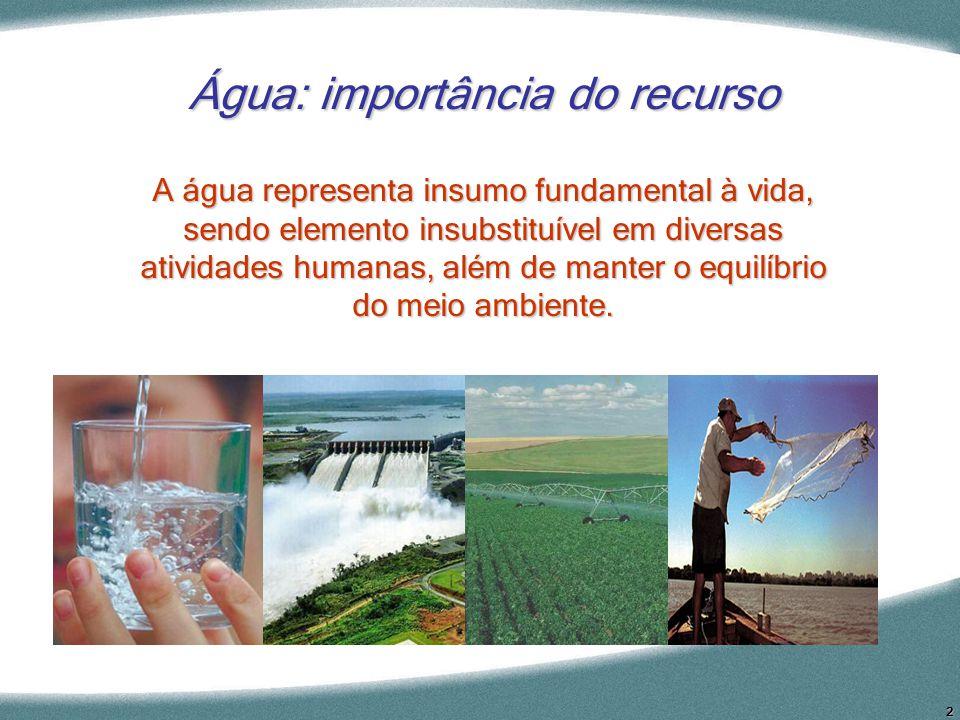 Água: importância do recurso