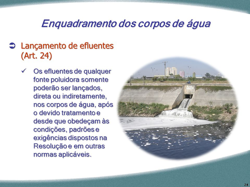 Enquadramento dos corpos de água