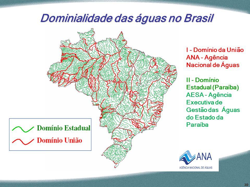 Dominialidade das águas no Brasil