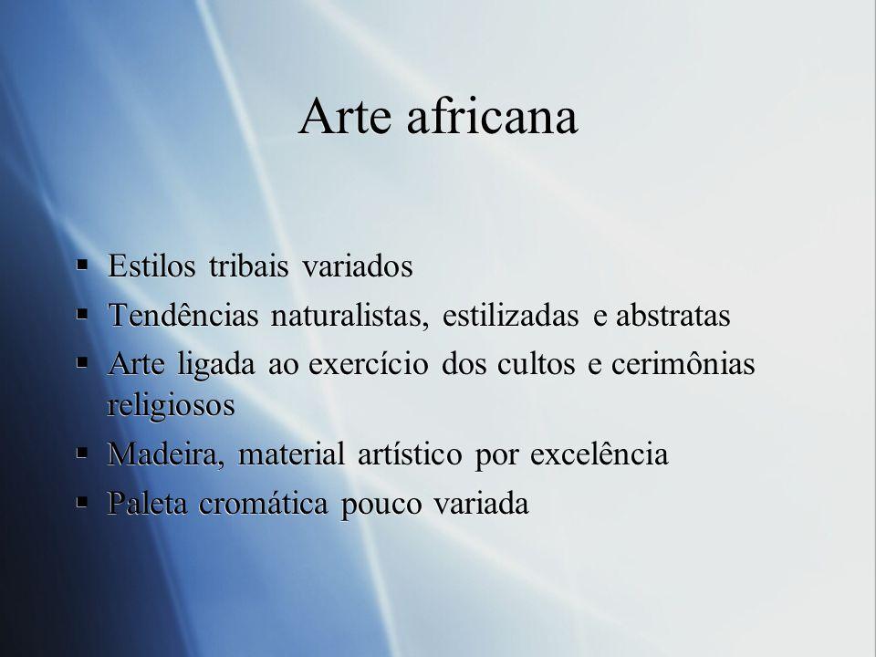 Arte africana Estilos tribais variados