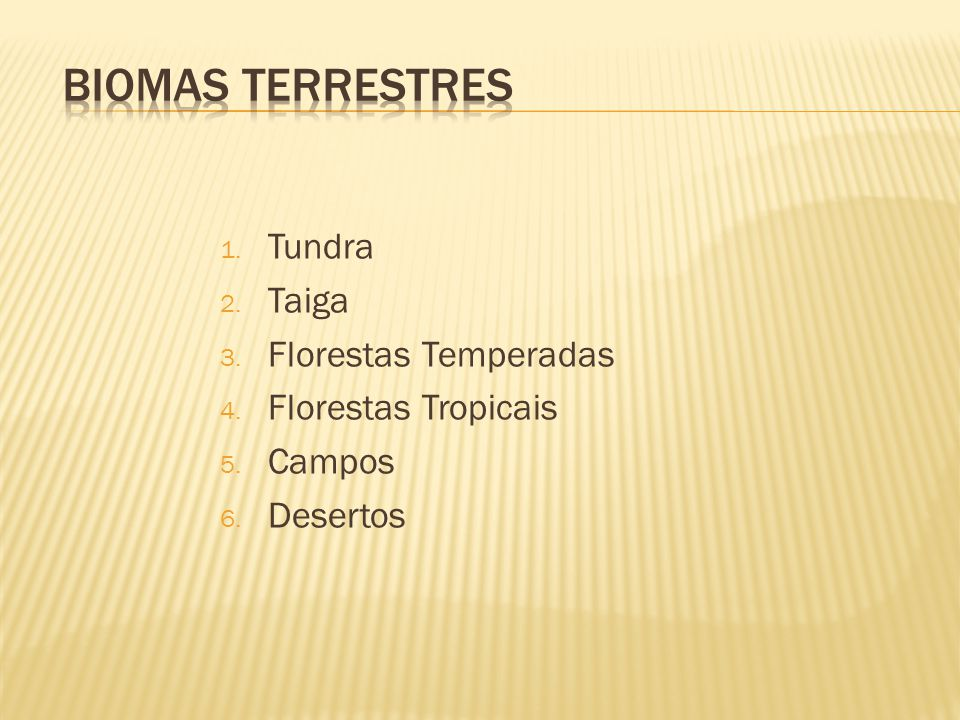 Biomas Terrestres Tundra Taiga Florestas Temperadas