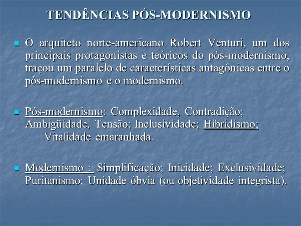 TENDÊNCIAS PÓS-MODERNISMO