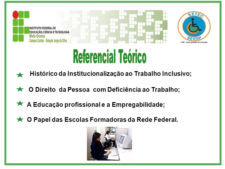 Histórico da Institucionalização ao Trabalho Inclusivo;