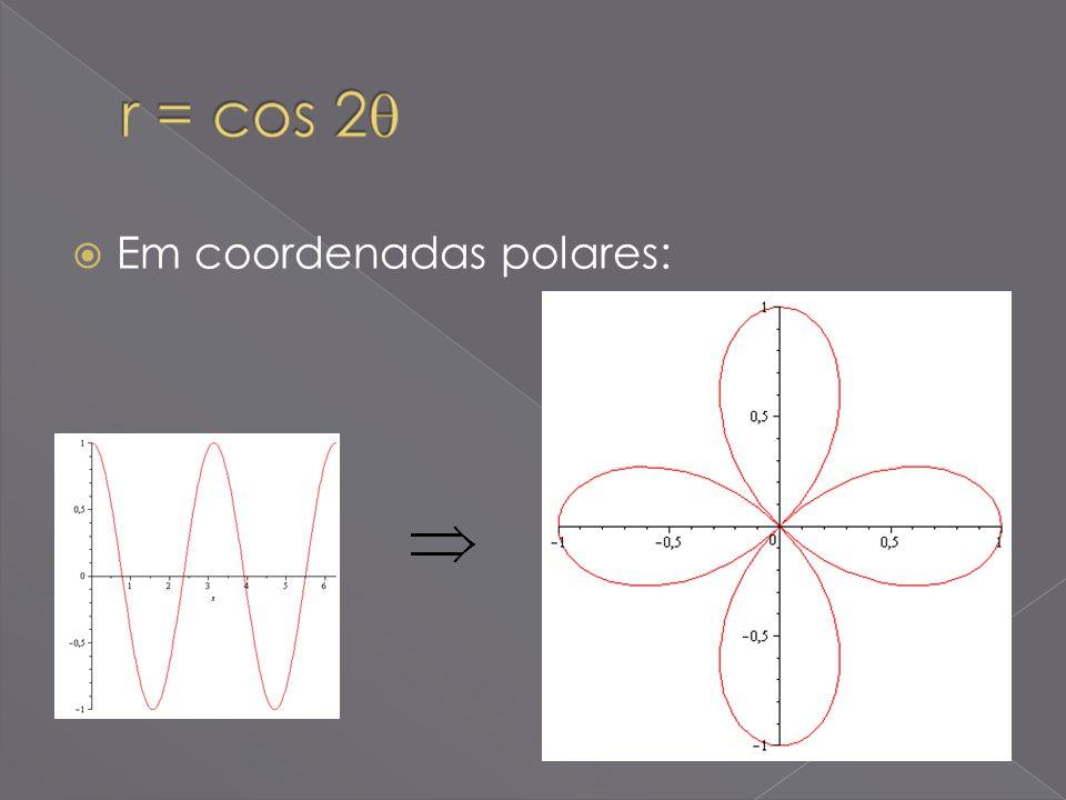 r = cos 2 Em coordenadas polares: