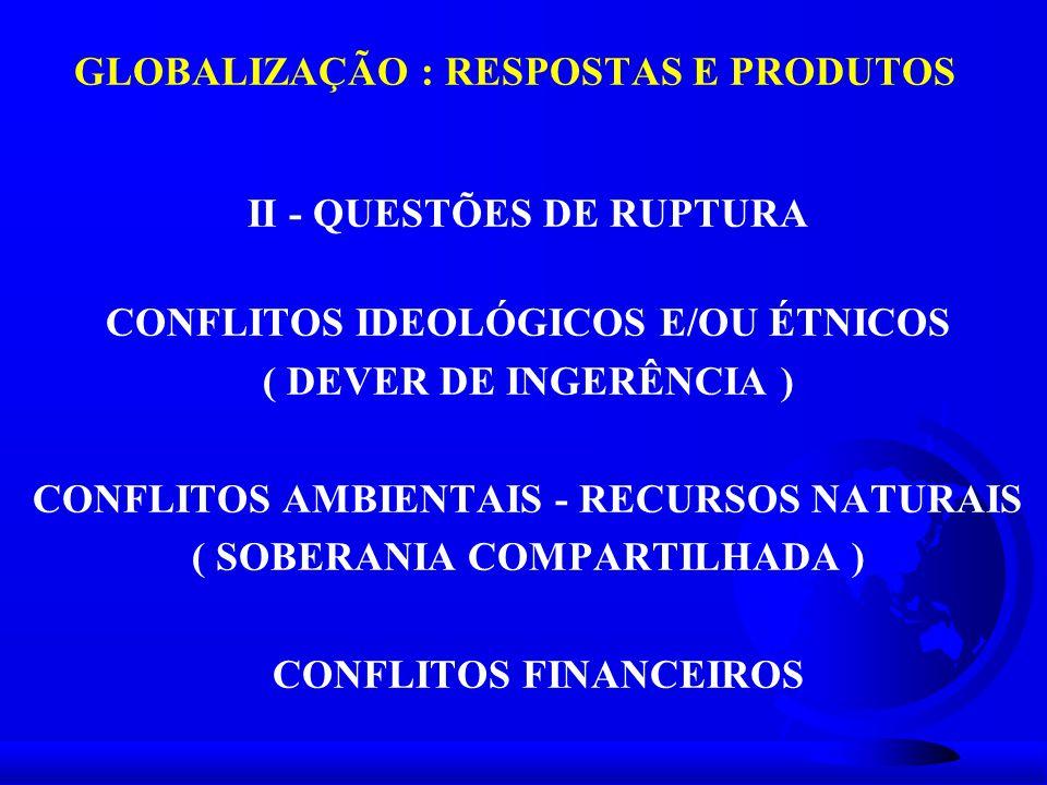 GLOBALIZAÇÃO : RESPOSTAS E PRODUTOS