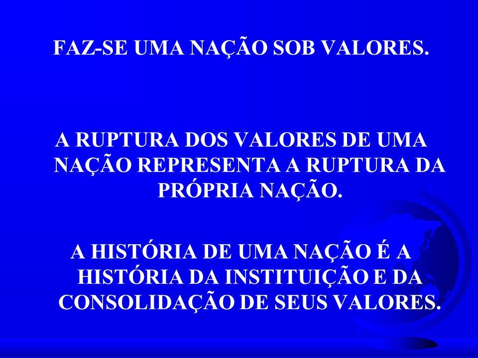 FAZ-SE UMA NAÇÃO SOB VALORES.