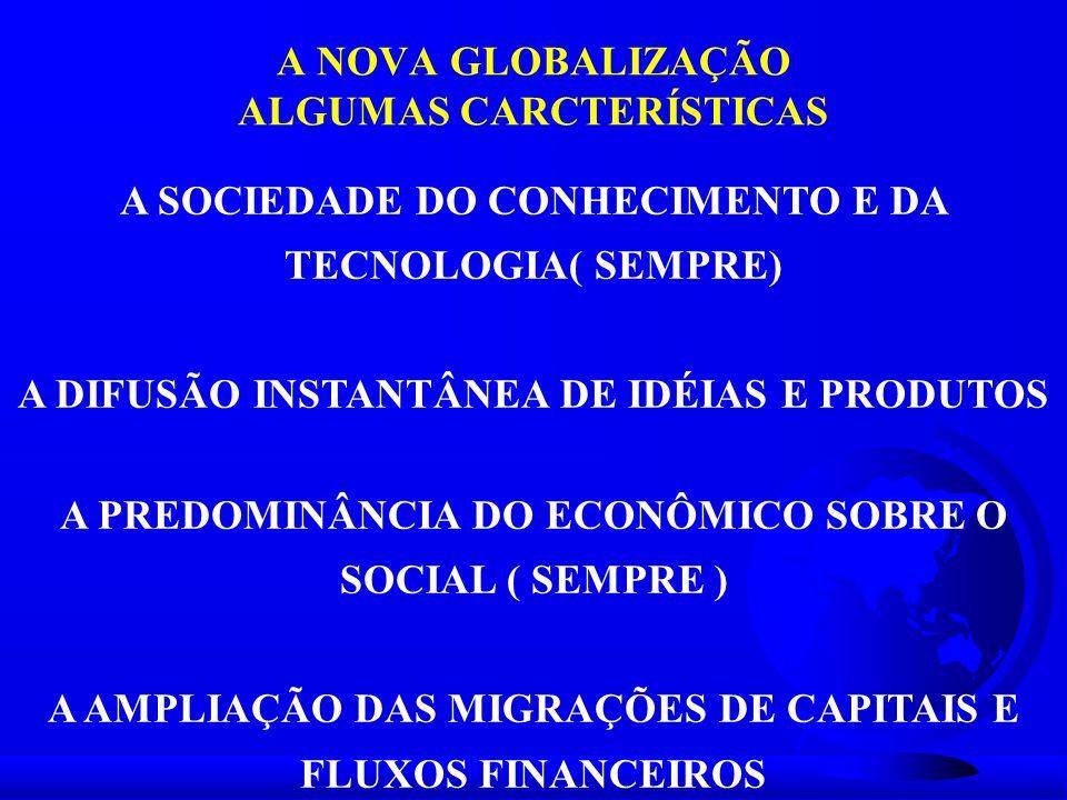 A NOVA GLOBALIZAÇÃO ALGUMAS CARCTERÍSTICAS