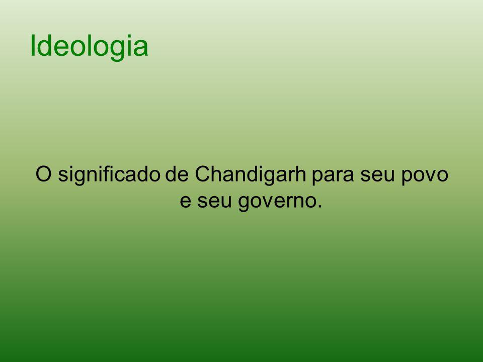 O significado de Chandigarh para seu povo e seu governo.