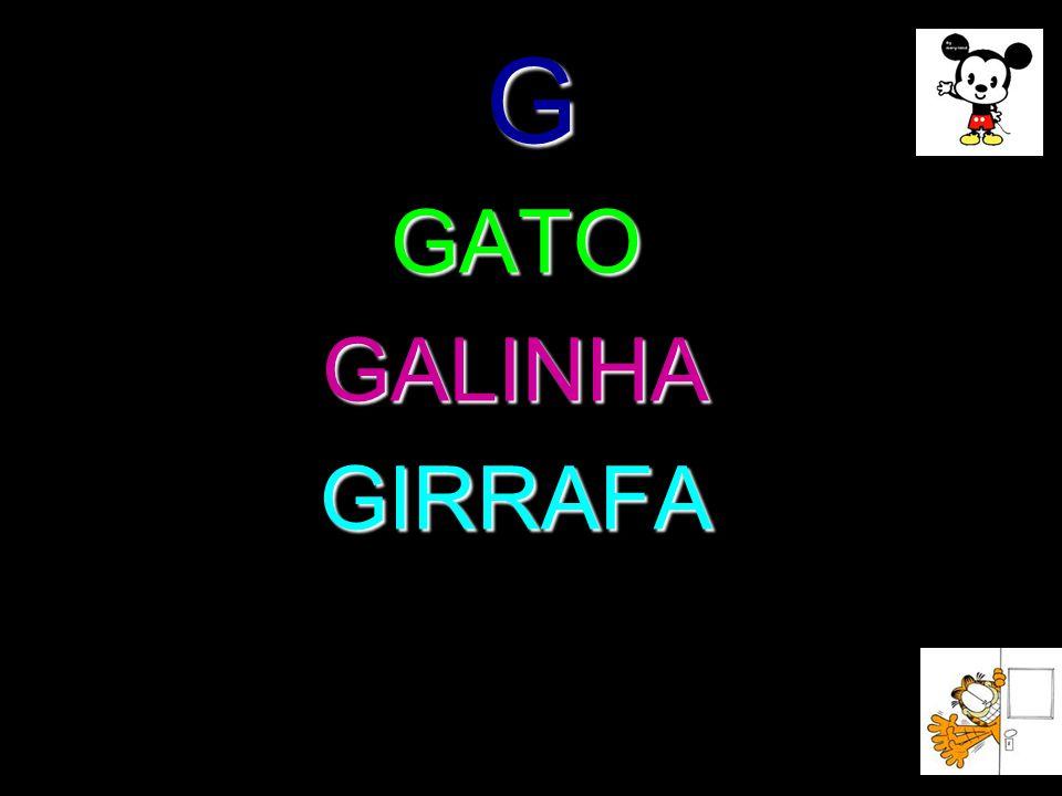 G GATO GALINHA GIRRAFA