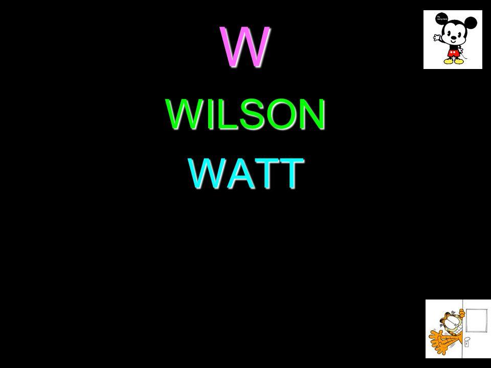 W WILSON WATT