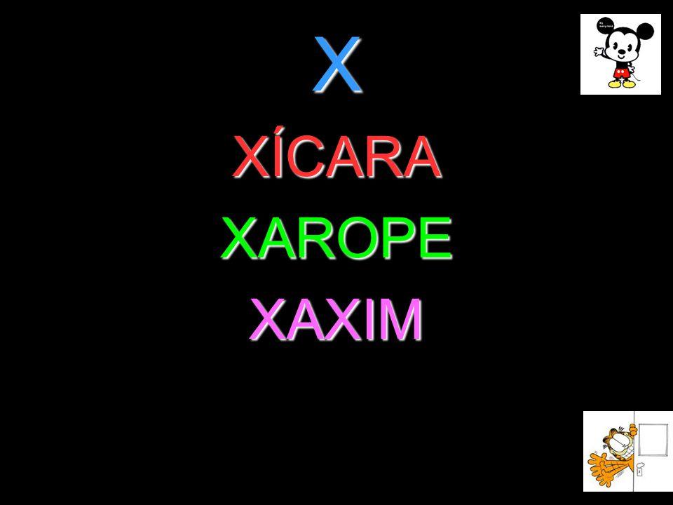 X XÍCARA XAROPE XAXIM