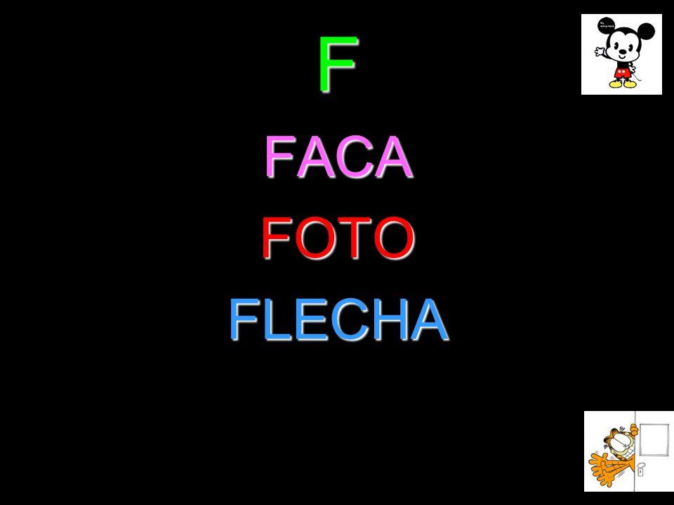 F FACA FOTO FLECHA