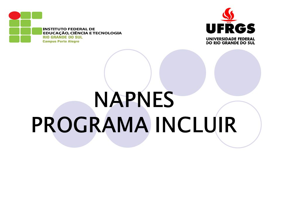 NAPNES PROGRAMA INCLUIR