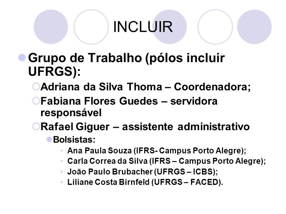 INCLUIR Grupo de Trabalho (pólos incluir UFRGS):
