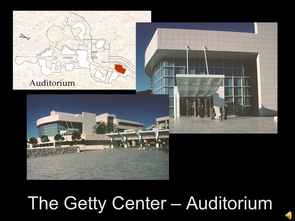 The Getty Center – Auditorium