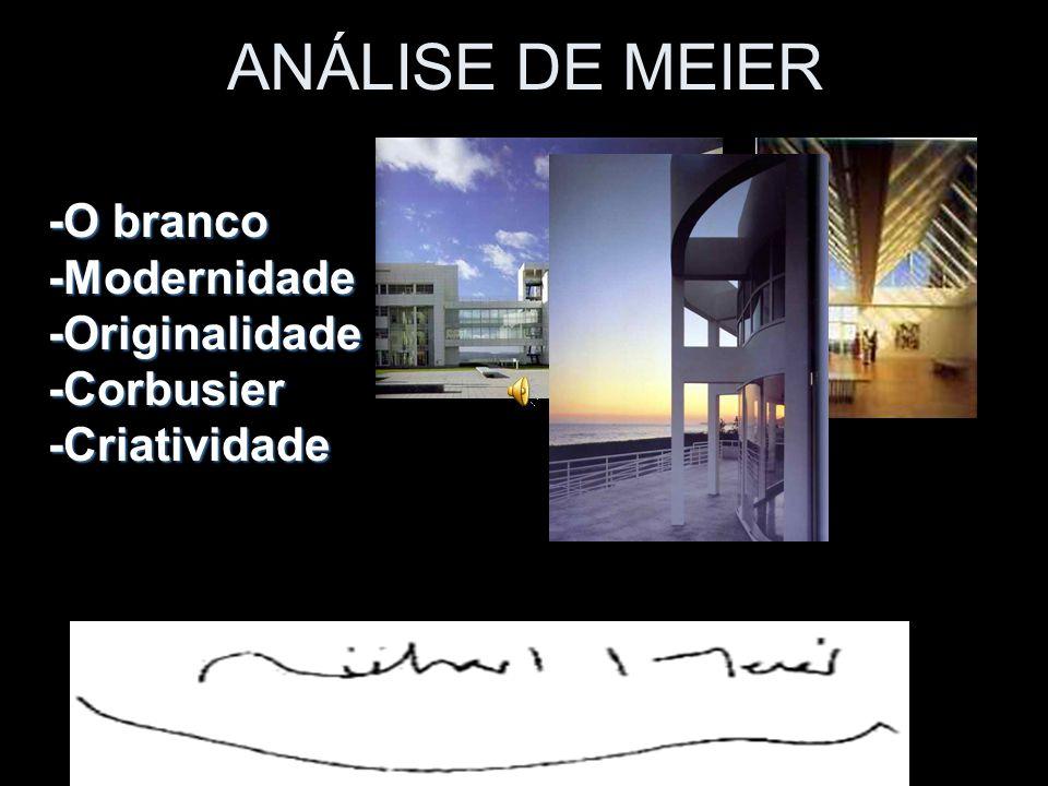 ANÁLISE DE MEIER -O branco -Modernidade -Originalidade -Corbusier