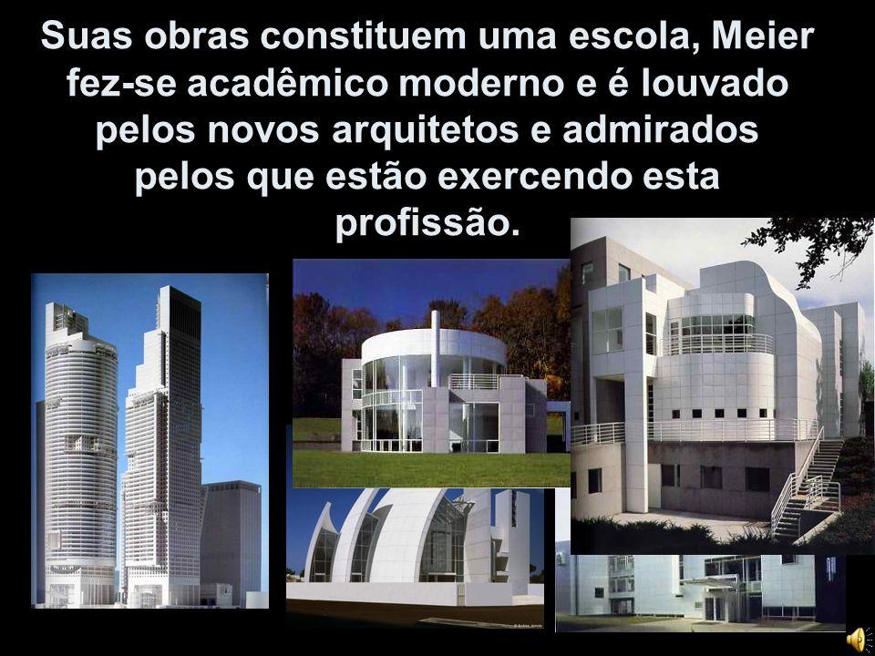 Suas obras constituem uma escola, Meier fez-se acadêmico moderno e é louvado pelos novos arquitetos e admirados pelos que estão exercendo esta profissão.