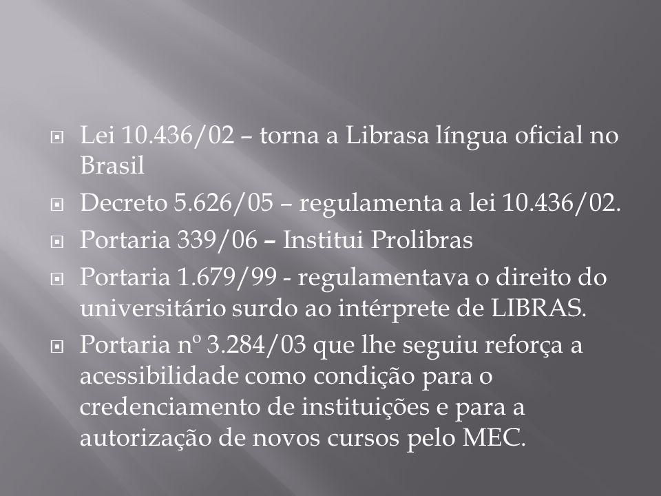 Lei 10.436/02 – torna a Librasa língua oficial no Brasil