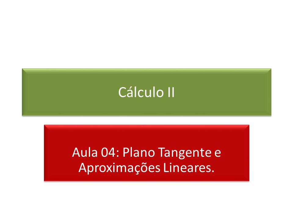 Aula 04: Plano Tangente e Aproximações Lineares.