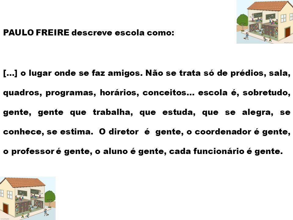 PAULO FREIRE descreve escola como:
