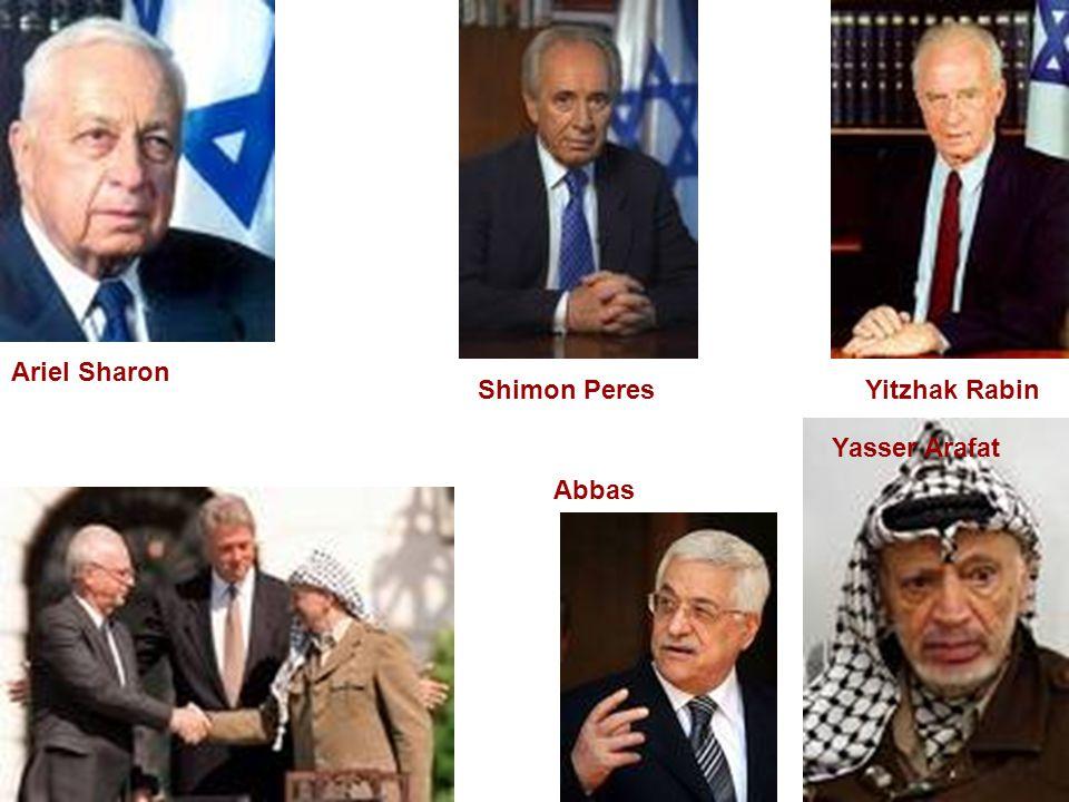 Ariel Sharon Shimon Peres Yitzhak Rabin Yasser Arafat Abbas