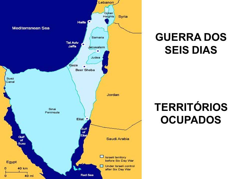 GUERRA DOS SEIS DIAS TERRITÓRIOS OCUPADOS